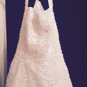 Dresses - Beaded Wedding Dress and 5 Bridesmaid Dresses!